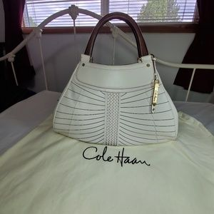 Cole Haan Large Triangle Leather Tote, NEW